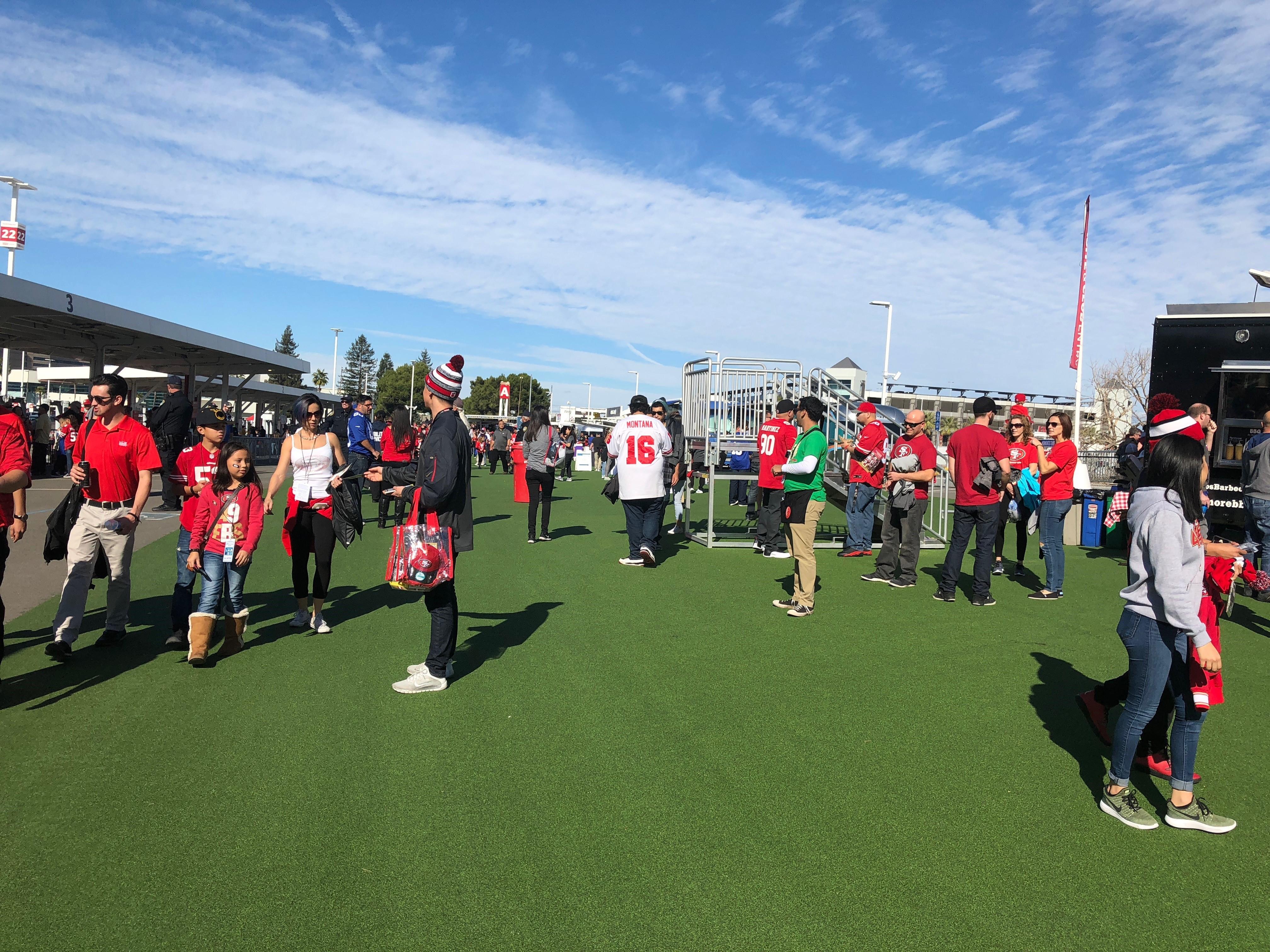 Levis stadium tailgating Faithful Mile San Francisco 49ers