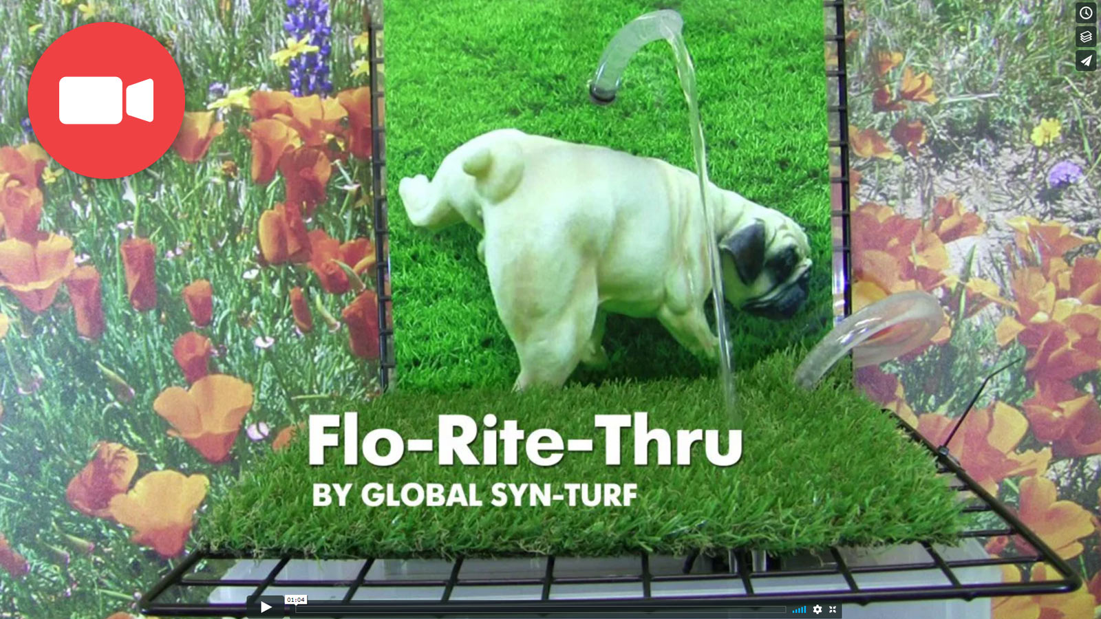 Artificial Grass Flo-Rite-Thru technology offers a perfect drainage ideal for pet areas.