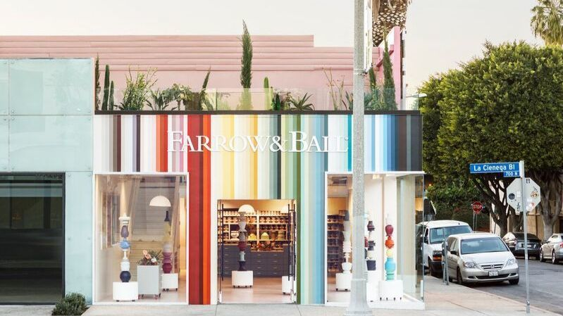 Experience the many colors of Farrow  Ball at new La Cienega showroom in West Hollywood