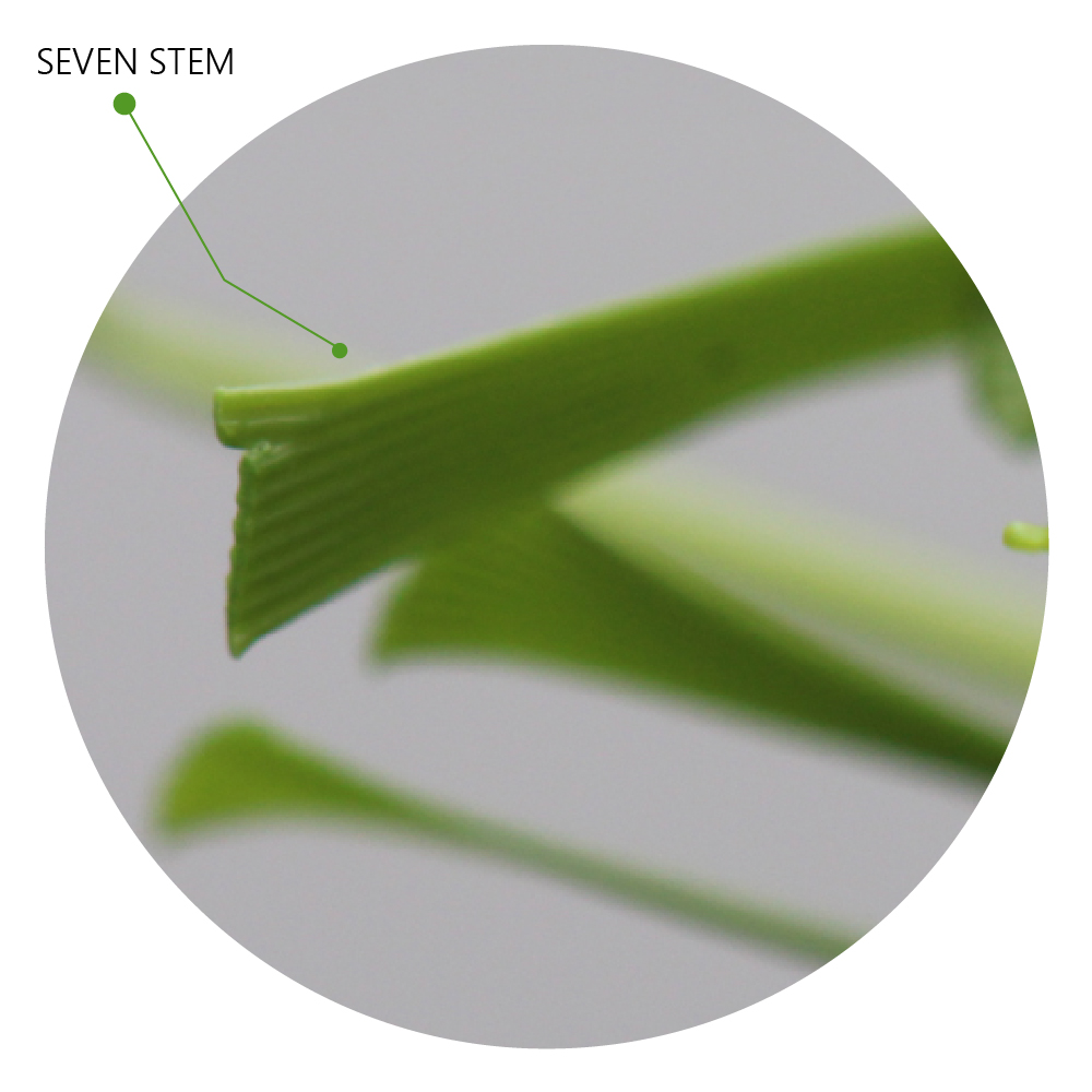 Seven Stem Blade artificial grass synthetic turf unique technology