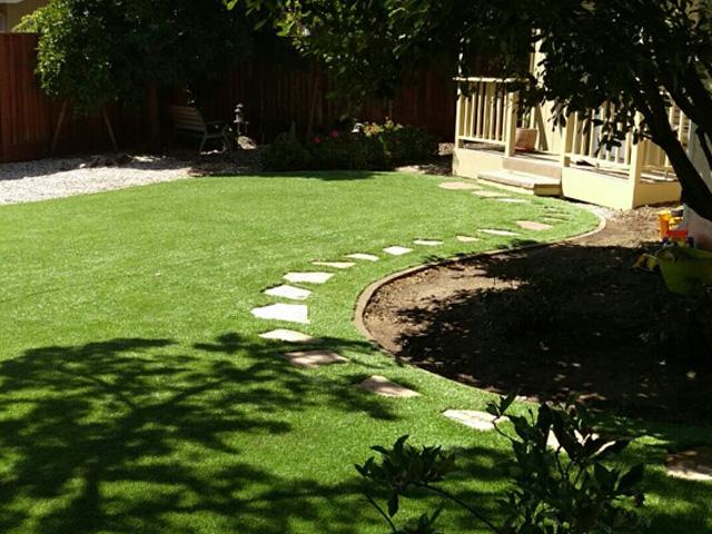 Synthetic Grass Backyard Lompoc, Santa Barbara County, California