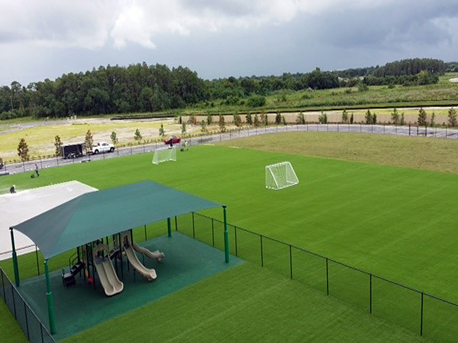 Sports field athletic football dark green tent playground white gates players safe playground set stadium green grass