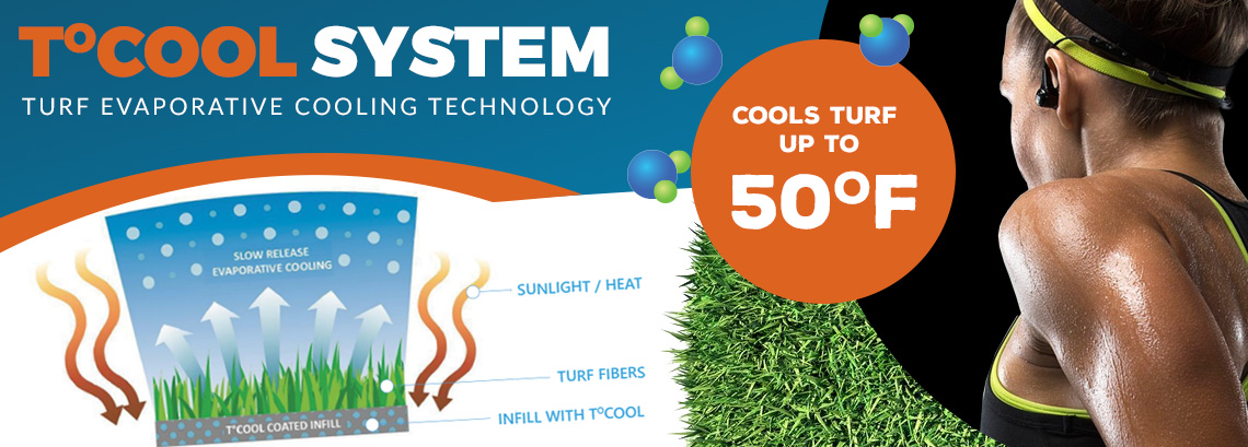 Synthetic Grass Cooling Technology System keeps turf temperature down up to 50 degrees.