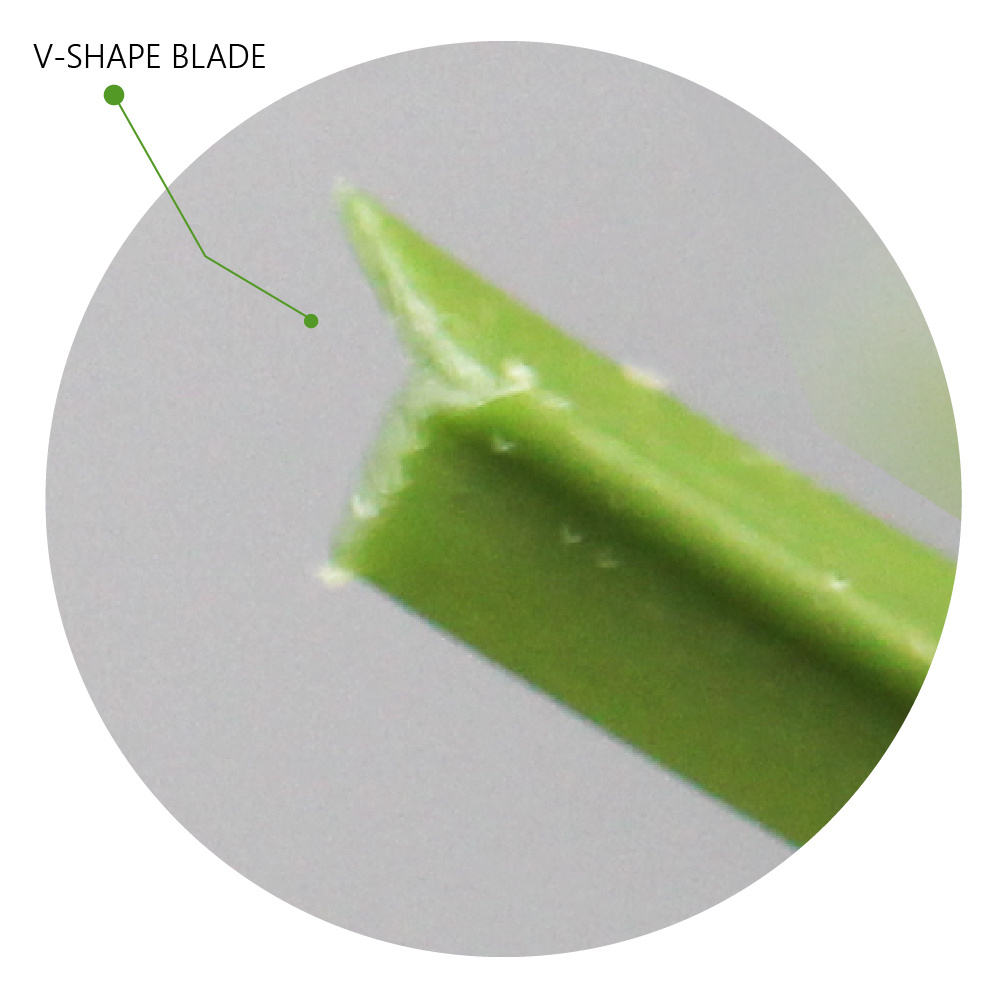 V-Shape Blade: Artificial Grass Synthetic Blades Design New Technology