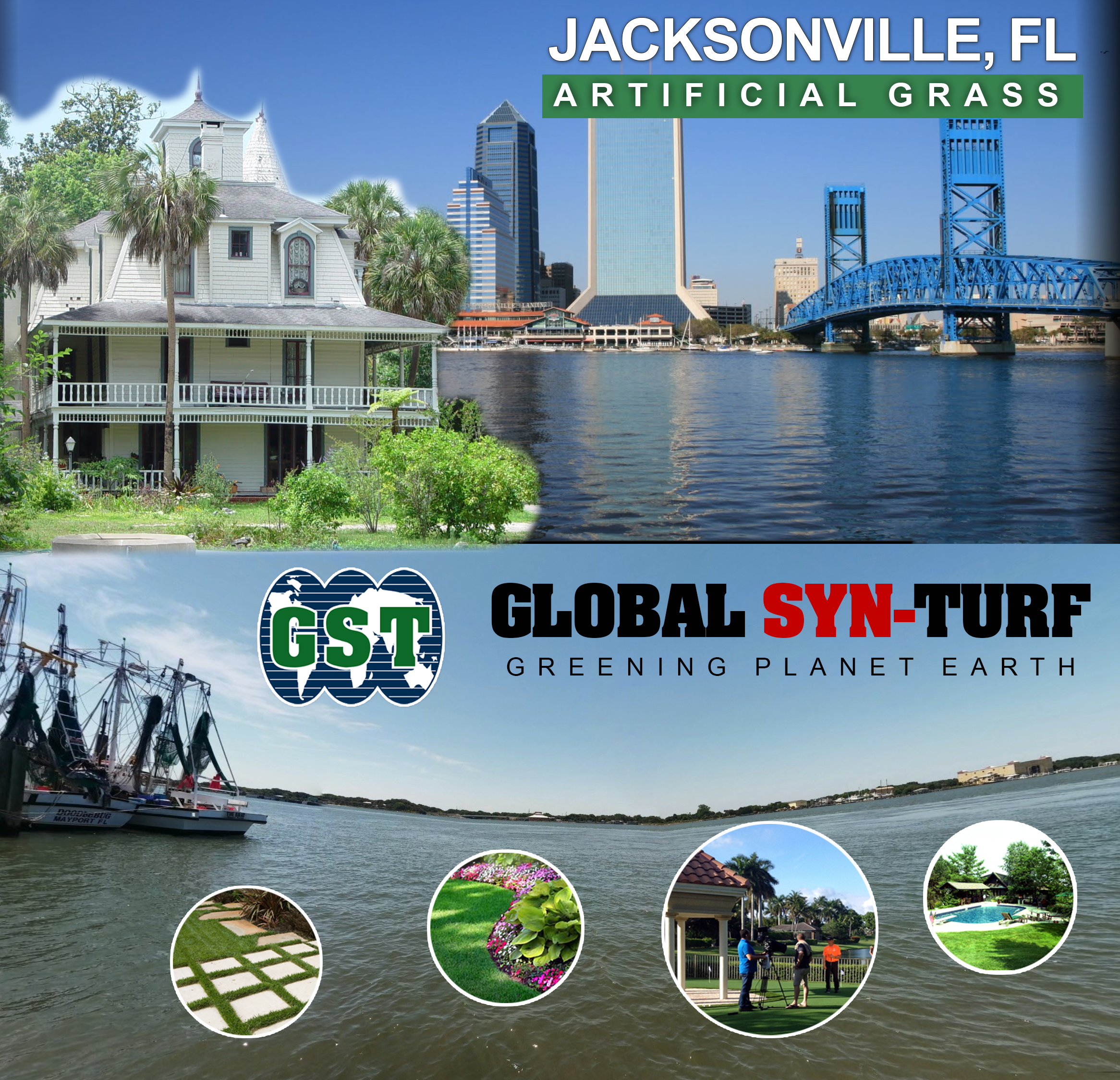 Artificial grass, synthetic turf in Jacksonville, Florida
