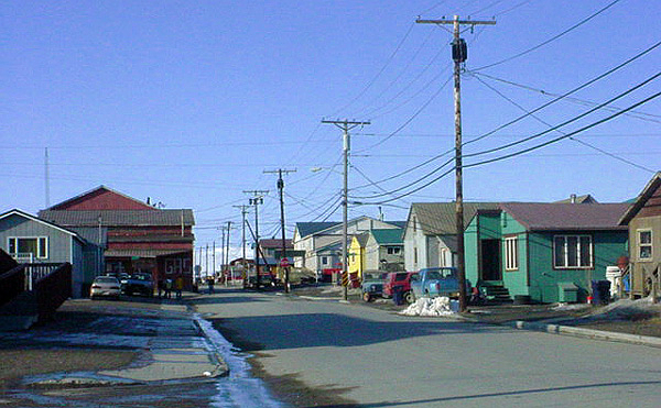 Artificial grass, synthetic turf in Nome, Alaska