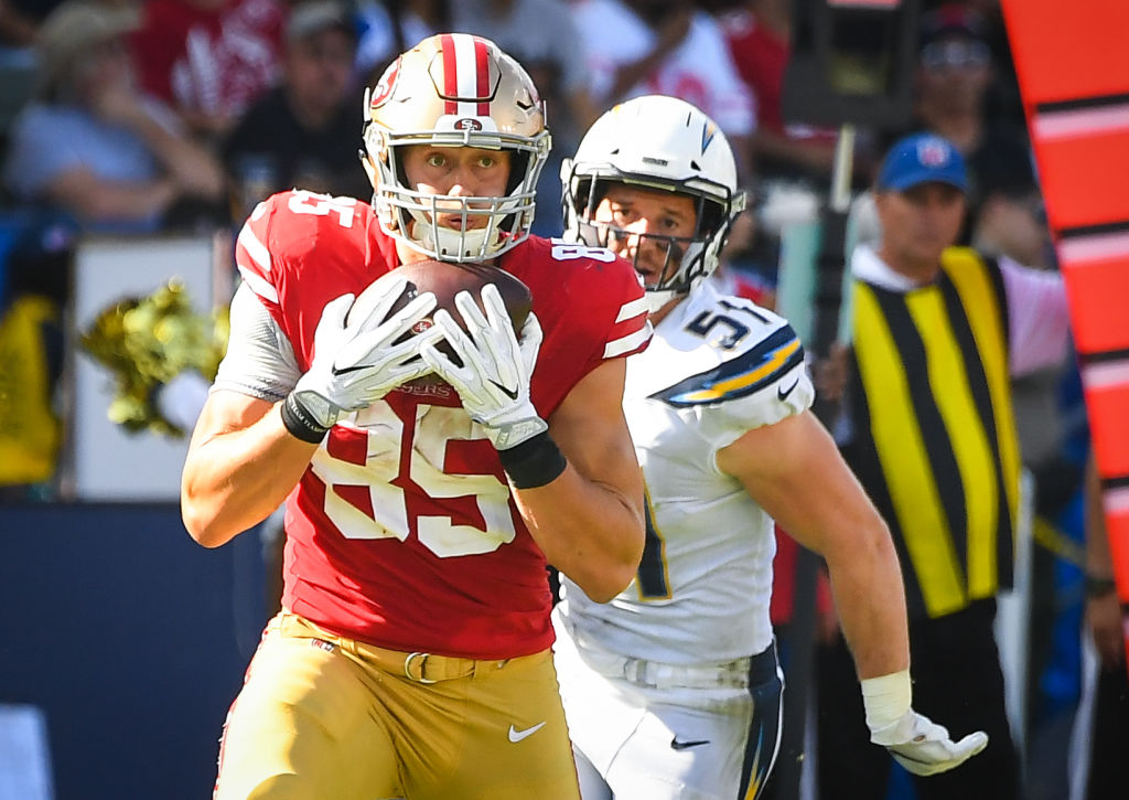 Kittle Is on Track to Joining 49ers Best Tight Ends