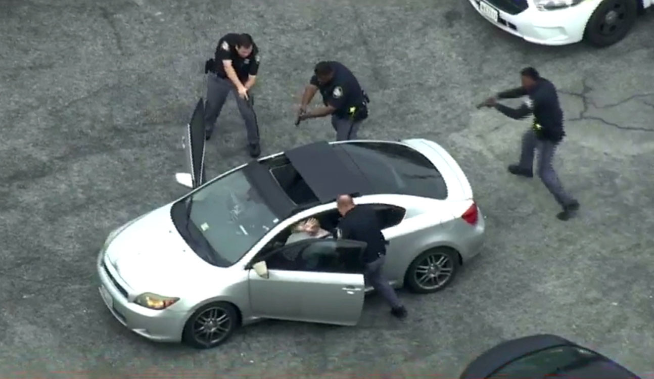 Two people in custody after Baltimore County police in chase car tied to homicide in Virginia
