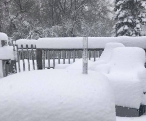 Up To 17 Inches Of Snow Fell In North Dakota