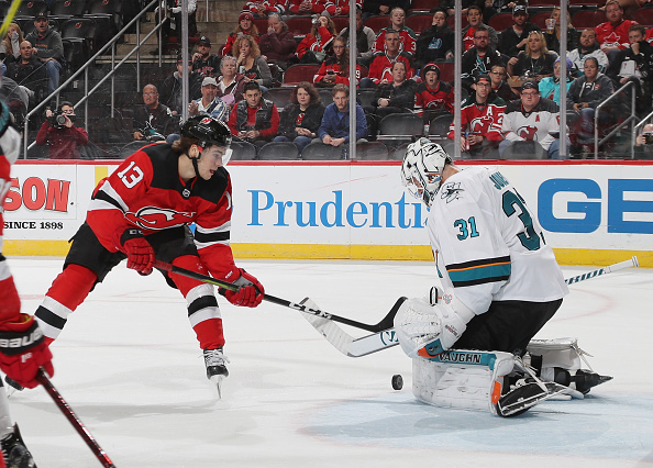 Sharks Fall to Devils Joe Pavelski Scores 700th Point