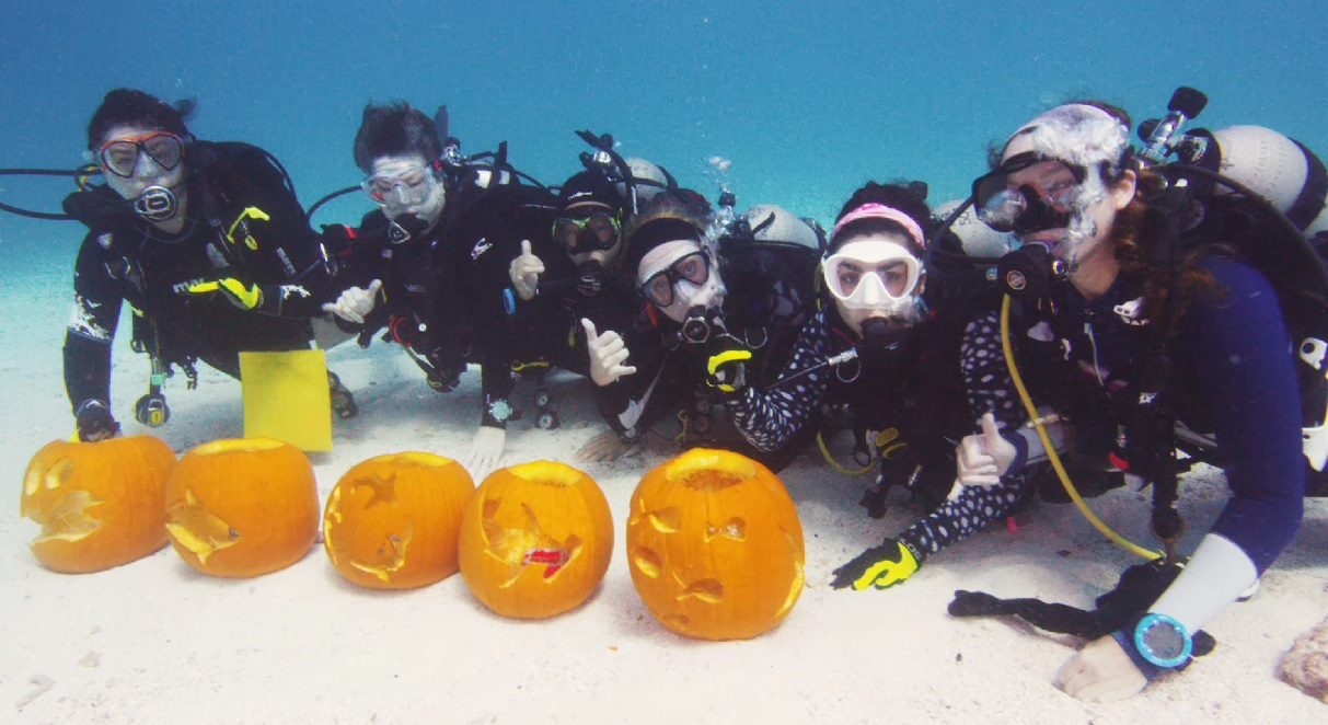 Watch Divers Carve Pumpkins Underwater in Florida Keys