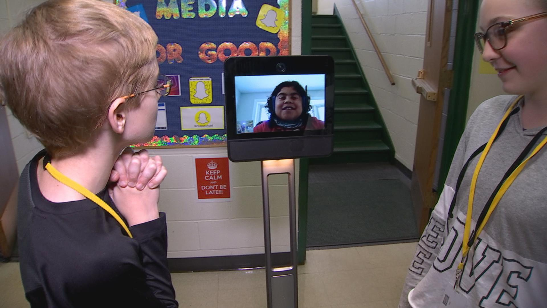 Boy With Health Issues Uses Robot to Attend School