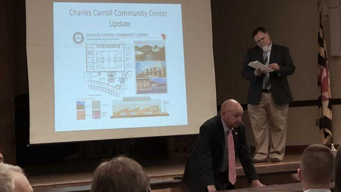 Commissioner Wantz and community discuss ideas for former Charles Carroll site
