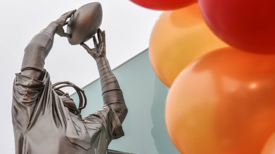 The Catch Stands Forever in Statues Outside Levis Stadium