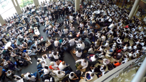 Im Staying Here  Fighting For Change: Racist Note Leads To 1,000-Strong Sit-In At University Of St. Thomas