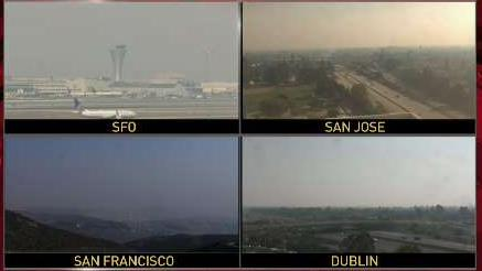 Smoke-Filled Air Permeates Bay Area Skies