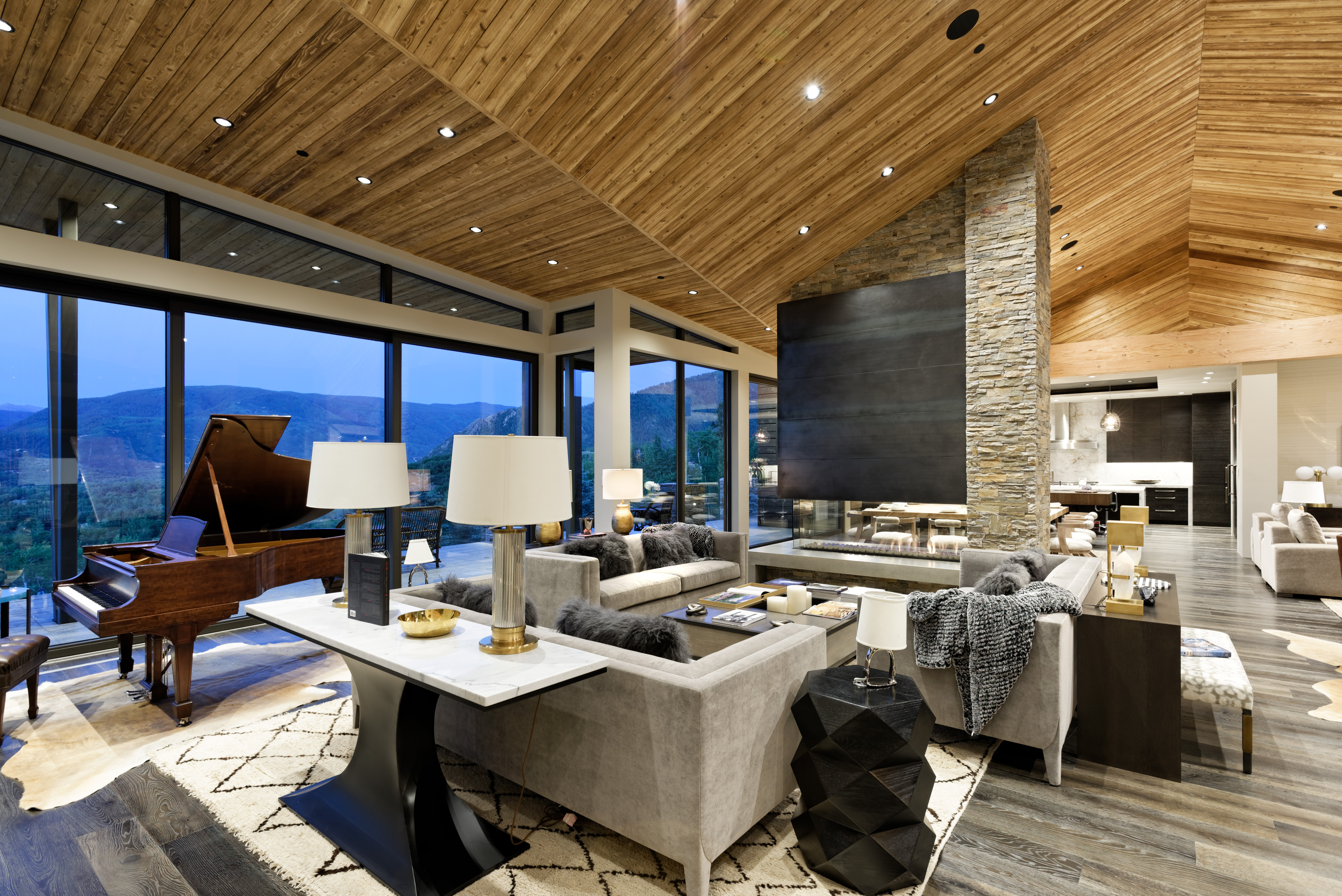 This $36-million mountain modern home in Aspen comes complete with $2-million worth of custom furniture