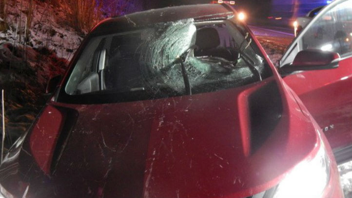Woman Injured After Pumpkin Thrown at Car From Overpass
